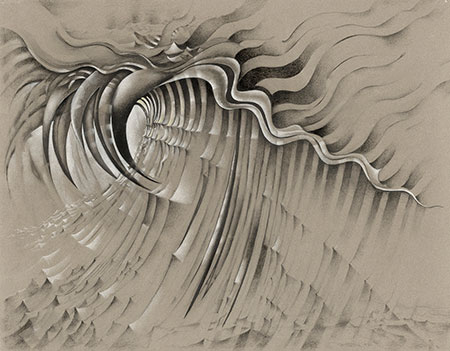 Lee Bontecou Untitled, 1985 Charcoal, graphite, and colored pencil on colored paper 22 x 30 inches The Museum of Modern Art, New York, The Judith Rothschild Foundation Contemporary Drawings Collection Gift © 2013 Lee Bontecou Digital image © 2013 The Museum of Modern Art, New York/Licensed by SCALA/Art Resource, NY