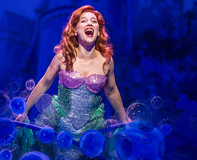 Jessica Grove in Disney's The Little Mermaid, Paper Mill Playhouse, 2013.  Photo by Billy Bustamante, courtesy of Paper Mill Playhouse.