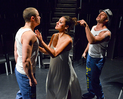 Dallas Theatre Center's Oedipus el Rey starring Phillipe Bowgen, Sabina Zuniga Varela and Daniel Duque-Estrada.  Photo by Karen Almond.
