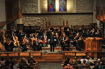 River Oaks Chamber Orchestra.  Photo by Jeff  Grass.
