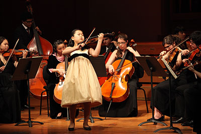 Soo-Been Lee competed in the junior division at the 2012 Menuhin Competition in Beijing. The 2014 edition of the competition in Austin features 42 competitors ranging in age from 10 to 21 years old. Photo courtesy of the Menuhin Competition Trust.