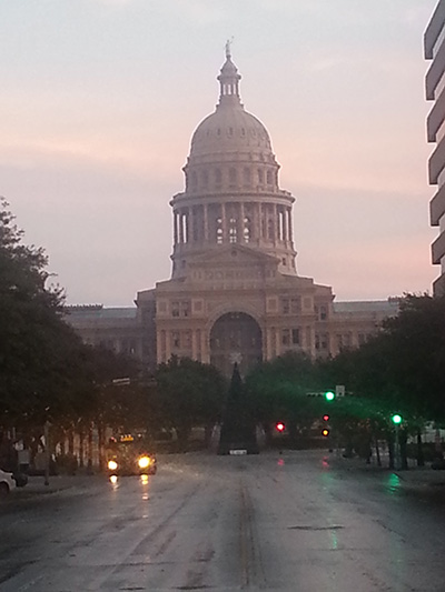 The Texas state capitol building in Austin.