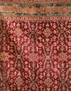 Hanging or cover India, second half of the 17th century Velvet 119 3/4 x 101 5/8 in. (304 x 258 cm) The Keir Collection of Islamic Art on loan to the Dallas Museum of Art