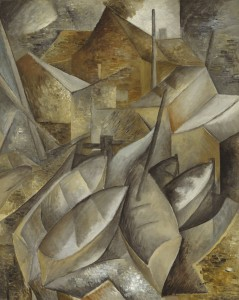 Georges Braque, Barques de pêche (Fishing Boats), 1909, oil on canvas, the Museum of Fine Arts, Houston, gift of Audrey Jones Beck. © 2014 Artists Rights Society (ARS), New York / ADAGP, Paris