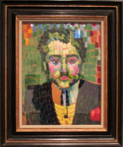 Robert Delauney, Jean Metzinger, 1906. Oil on cardboard. Museum of Fine Arts, Houston