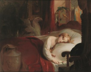 Thomas Sully American, born England, 1783–1872 Little Nell Asleep in the Curiosity Shop, 1841 Oil on canvas, 44 × 56 in. (111.8 × 142.2 cm) John Frederick Lewis Collection, Rare Book Department, The Free Library of Philadelphia