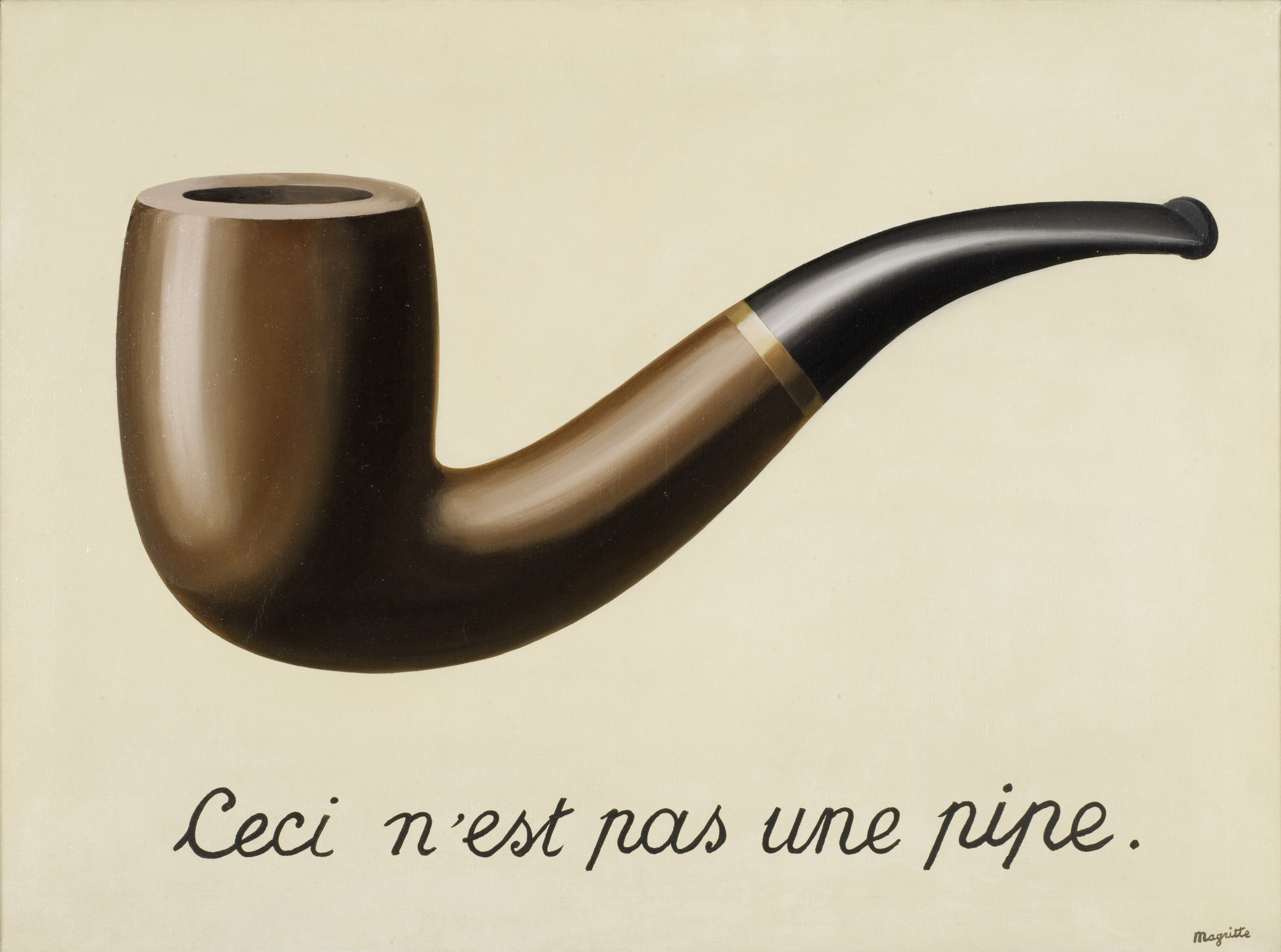 Rene Magritte The Treachery Of Images The Painter and the Ad...