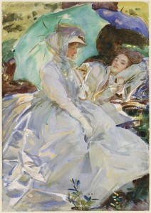 John Singer Sargent, Simplon Pass: Reading, c. 1911, opaque and translucent watercolor and wax resist with graphite underdrawing, Museum of Fine Arts, Boston, The Hayden Collection—Charles Henry Hayden Fund. Photograph © 2013 Museum of Fine Arts, Boston