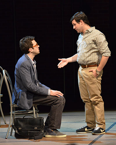 Dallas Theater Center's The Fortress of Solitude.  Adam Chanler-Berat, Etai Benshlomo.  Photo by Karen Almond.