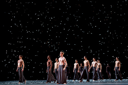 Artists of the Houston Ballet in Edwaard Liang's Murmmuration. Photo by Amitava Sarkar.