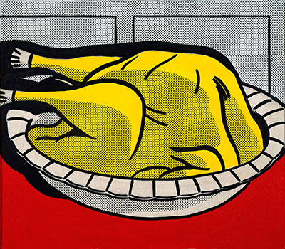Roy Lichtenstein (1923–1997)  Turkey, 1961  Oil on canvas © Estate of Roy Lichtenstein. Private collection.