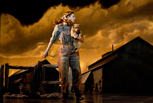 Danielle Wade as Dorothy in the Original Toronto Cast of The Wizard of Oz.  Photo by CYLLA VON TIEDEMANN.
