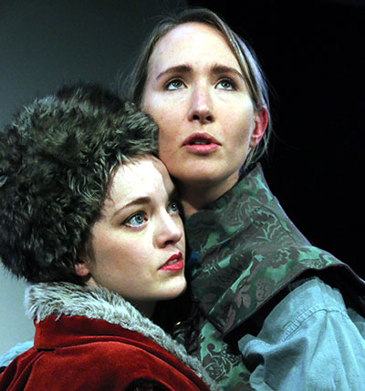 Katherine Bourne and Anastasia Munoz in the Stage West production of Sarah Ruhl's Orlando Photo by Buddy Myers.