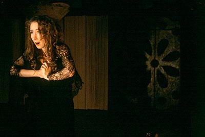 Anastasia Munoz in Undermain Theatre's production of Sarah Ruhl's Eurydice.  Photo by Katherine Owens.