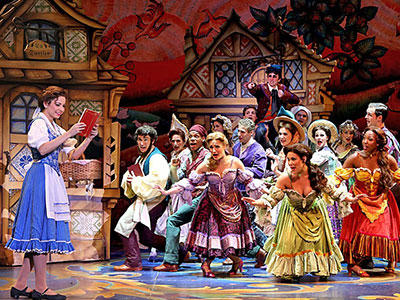 Hilary Maiberger and the cast of Disney's Beauty and the Beast. Photo by Amy Doyle.