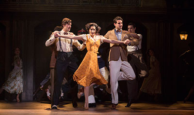 Caroline Bowman in Evita - photo credit Richard Termine.