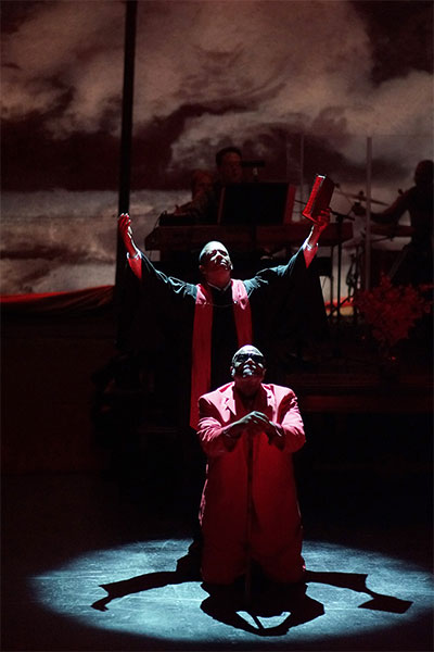 Eugene Lee and Tim Curry in The Gospel at Colonus. Photo by Kirk Tuck.