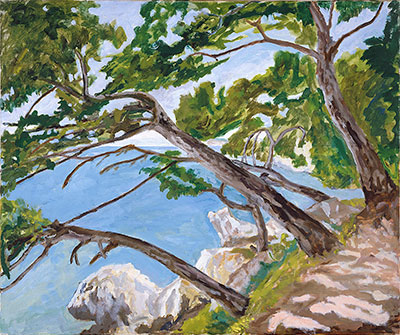 Winston Churchill, Sea and Pine Trees, Cap d'Ail, c. 1955, oil on canvas, Dallas Museum of Art, The Wendy and Emery Reves Collection.