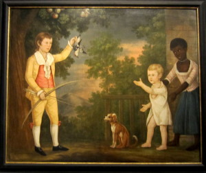 Artist Unknown, called the Payne Limber*, Alexander Spotswood Payne and His Brother John Robert Dandridge Payne, with Their Nurse, ca. 1790-91. Virginia Museum of Fine Arts. Photo: Devon Britt-Darby
