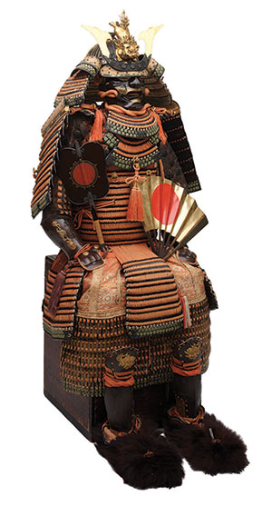 Armor with the Features of a Tengu, late Edo period, 1854, iron, lacquer, vegetable fiber, bear fur, leather, feathers, and fabric. Photograph by Brad Flowers. © The Ann & Gabriel Barbier-Mueller Museum, Dallas.