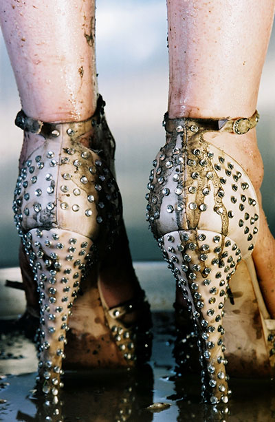 Marilyn Minter Runs, 2006 Color photograph. Ed. 2/3 86 x 60 inches Linda Pace Foundation.