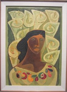 Oswaldo Guayasamin, Cartuches (Lilies), 1949. On view at the Virginia Museum of Fine Arts, lent by the Estate of Robert D. Wilson