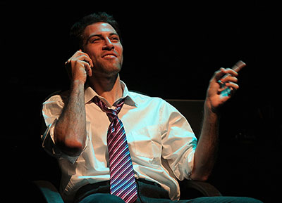 Jordan Jaffe in Black Lab Theatre's production of Assistance. Photo by Pin Lim.