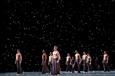 Artists of Houston Ballet in Edwaard Liang's Murmuration. Photo by Amitava Sarkar.