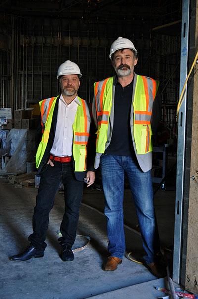 Roberto and Rick in Alvarez Family Studio Theatre.  Photo by Christopher Novosad.