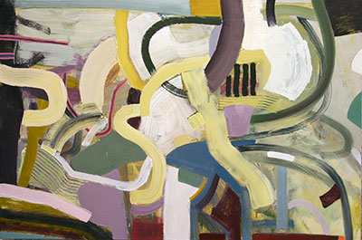 "Robert Jessup, March Moves, 2014, oil on canvas, 32x48"" Image courtesy of the artist and Conduit Gallery."