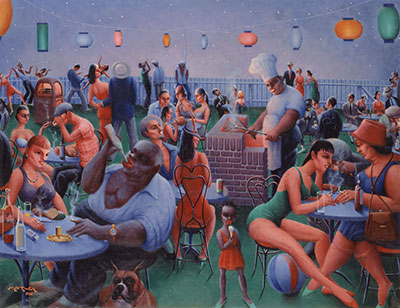 Archibald J. Motley Jr. (1891–1981)  Barbecue, 1960  Oil on canvas © Valerie Gerrard Browne Collection of Mara Motley, MD, and Valerie Gerrard Browne Image courtesy of the Chicago History Museum, Chicago, Illinois.