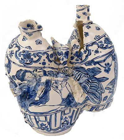 Francesca DiMattio Orgy Pot, 2012 Chinapaint and underglaze on porcelain ceramic. Courtesy of the artist.