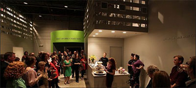 Amphibian Productions swanky new lobby in Fort Worth.  Photo by  Dror Baldinger.
