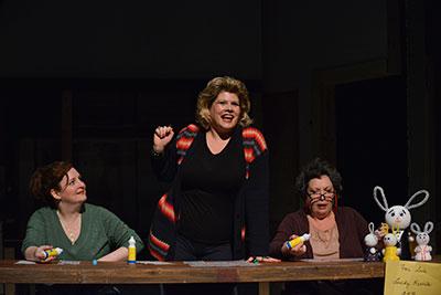 Jessica Cavanagh, Michelle Courtney Schwartz, Pam Dougherty.  Photos by Karen Almond.