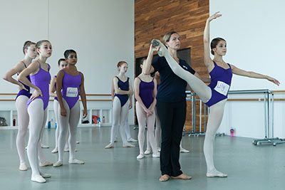 Former principal dancer Sabrina Lenzi teaches students from all over the world during the Summer Intensive. Photo:  Cameron Durham.