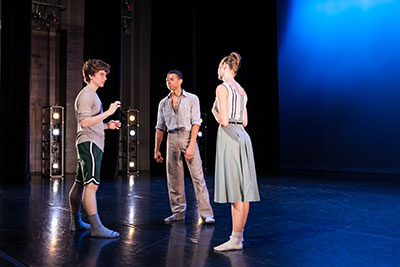The collaboration with the American Festival for the Arts allows students the opportunity to choreograph on fellow students. Photo: Cameron Durham.