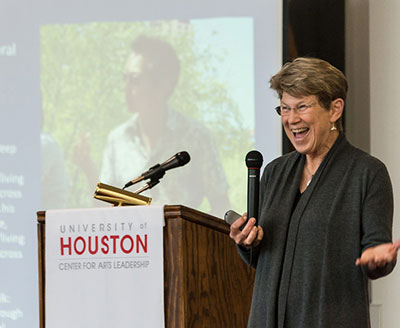 Ann Markusen at the University of Houston Center for Arts Leadership Summit.