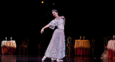 Amy Fote in Houston Ballet's production of Ronald Hynd's The Merry Widow. Photo by Amitava Sarkar.