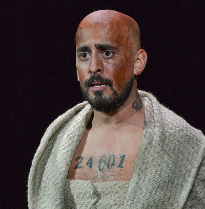 Nehal Joshi in Dallas Theater Center's Les Miserables.  Photo by Karen Almond.