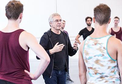 John Neumeier and artists of Houston Ballet. Photo by Amitava Sarkar.