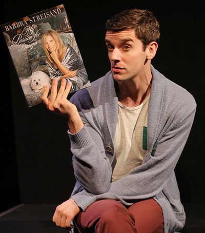 Michael Urie in Buyer and Cellar at the AT&T Performing Arts Center.