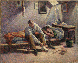 Maximilien Luce (French, 1858–1941), Morning, Interior, 1890, oil on canvas, 25-1/2 x 31-7/8 in. The Metropolitan Museum of Art, New York, Bequest of Miss Adelaide Milton de Groot (1876–1967), 1967. Image Copyright © The Metropolitan Museum of Art. Image source: Art Resource, NY © 2014 Artists Rights Society (ARS), New York / ADAGP, Paris. On view through Sept. 7 in Face to Face: The Neo-Impressionist Portrait, 1886-1904 at the Indianapolis Museum of Art.