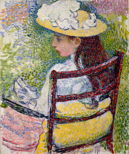 Théo van Rysselberghe, Jeanne Pissarro, 1895, oil on canvas, the Museum of Fine Arts, Houston, gift of Audrey Jones Beck.