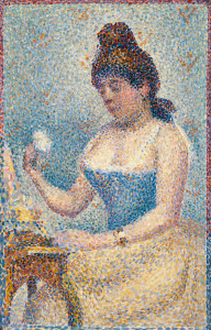 Georges Seurat, Young Woman Powdering Herself, 1889, oil on wood, the Museum of Fine Arts, Houston, gift of Audrey Jones Beck.