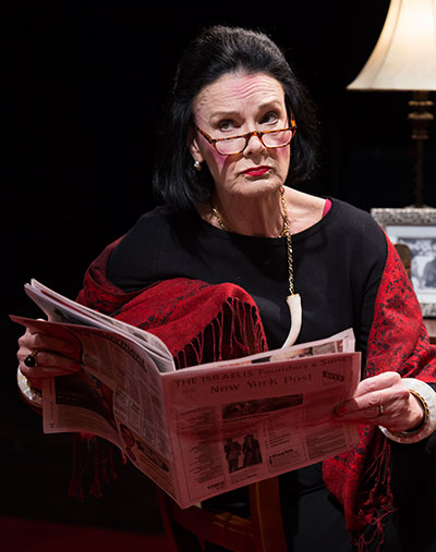 Sally Edmundson as Diana Vreeland in Full Gallop. Photos by Bruce Bennett.
