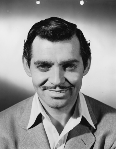 Makeup still of of Clark Gable. Image courtesy Harry Ransom Center.