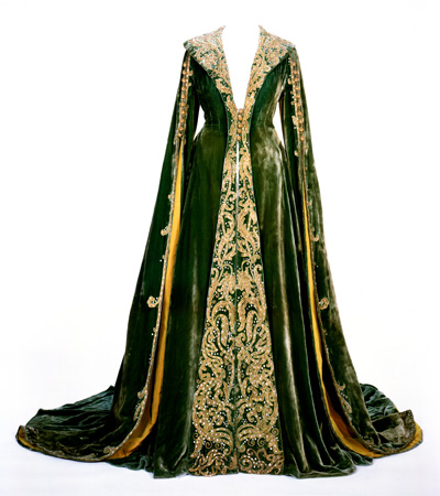 The green velvet dressing gown worn by Vivien Leigh as Scarlett O'Hara in Gone With The Wind. Image courtesy Harry Ransom Center.