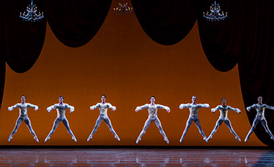 Artists of Houston Ballet in Paquita Photo by Amitava Sarkar.