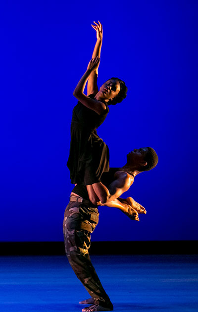 Dallas Black Dance Theatre II in Christopher Huggins' Tears of War Photo by Sharon Bradford.
