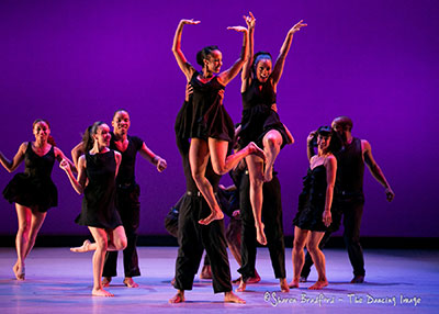 Dallas Black Dance Theatre in Bruce Wood's Smoke performed at the Dallas DanceFest. Photo by Sharon Bradford.